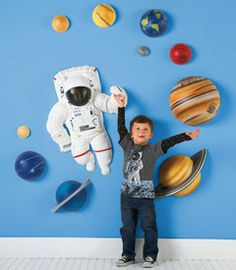 solar system 3 d wall dcor turn a bedroom or playroom into a space