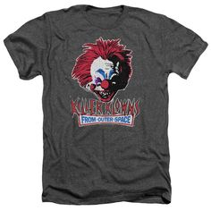Killer Klowns From Outer Space: Rough Clown Heather T-Shirt