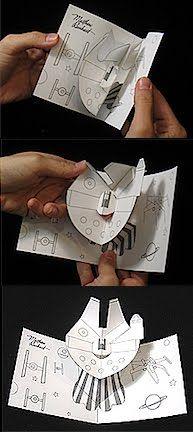 Millennium Falcon Pop-up card.