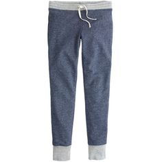 J.Crew Weekend Skinny Sweatpant (120 CAD) ❤ liked on Polyvore featuring activewear, activewear pants, pants, bottoms, sweatpants, joggers, pajamas, jogger sweatpants, skinny leg sweatpants and skinny fit sweatpants