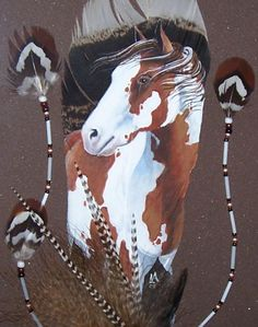 Feather Art -Palominto Horse!I have been teaching art for 20 years and never tried feather painting .