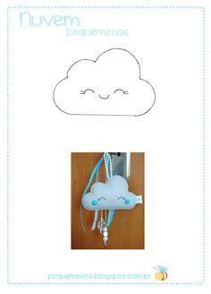 Chaveiro de nuvem - PAP e molde