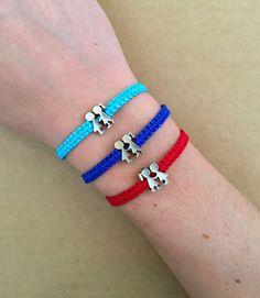Pulsera charm plata infinito | Pulseras | Macrame jewelry ...