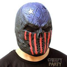 CreepyParty Deluxe Neuheit-Halloween-Kostüm-Party-Latex-menschliche Hauptmaske Masken Die räuber: Amazon.de: Spielzeug