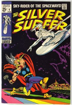 Silver Surfer #4, by John Buscema. - One of the big holes in my collection, and it keeps going up in price.