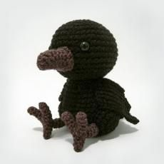 baby raven. Log in for free on amigurumipatterns.net.