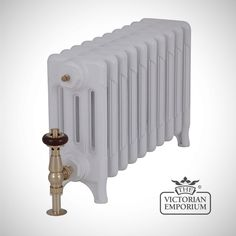 Buy Late Victorian radiator 4 columns - 460mm high, Victorian cast iron radiators - A traditional Victorian radiator 460mm high first produced in America in the 1880s.