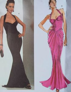 Vogue Guy Laroche Designer Gorgeous Gown Sewing by FoxVintageUk