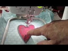 Learn how to do Appliqué Embroidery on the Brother SE 400 Sewing Machine. This heart appliqué embroidery tutorial is a simple, step-by-step process that I will walk you through, so that you can easily follow along, while embroidering your own appliqué at home.    Nothing like a cute little heart appliqué to show your love on Valentine's Day or any...