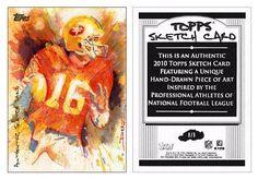 Joe Montana 2010 Topps NNO Topps Sketch Card Luis Diaz (#1/1)