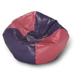 096 Pink/Purple Paneled Round Small Bean Bag