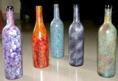 DIY Painted Wine Bottles | Paint Wine Bottles! | DIY Paint Crafts
