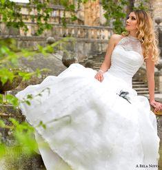 a bela noiva bridal 2014 illusion halter neck wedding dress