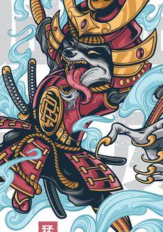 Rage raccoon on behance cartoon cutt in 2019 anime art, samu Arte Ninja, Ninja Art, Japanese Artwork, Japanese Tattoo Art, I Phone 7 Wallpaper, Art Sketches, Art Drawings, Animal Drawings, Samourai Tattoo