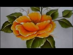 One Stroke Painting, Acrylic Painting Techniques, Painting Videos, Tole Painting, Fabric Painting, Painting & Drawing, Watercolor Paintings, Art Floral, Flower Tutorial
