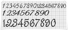 Cross Stitch Numbers, Cross Stitch Letters, Cross Stitch Baby, Cross Stitch Alphabet Patterns, Cross Stitch Designs, Stitch Patterns, Cross Stitching, Cross Stitch Embroidery, Pixel Font