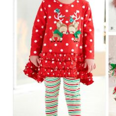 Molly & Millie Holiday Kissing Reindeer  from Freckles Children's Boutique for $68.00