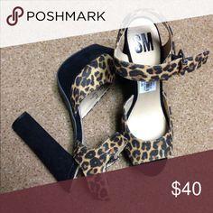 New! Leopard heels Leopard print & black. High heels. Shoes Heels