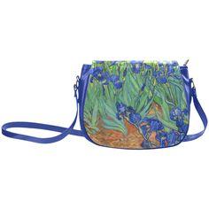 Van Gogh Irises Fine Floral Art Classic Saddle Bag/Large (Model 1648)