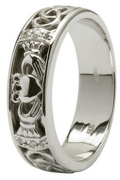 """Claddagh Ring """"The hands are there for friendship, the heart is there for love. For loyalty throughout the year, the crown is raised above."""""""