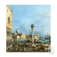 The Piazzetta, Venice, with the Bacino Di S. Marco and the Isola Di S. Giorgio Magiore Giclee Print by Canaletto at Art.com