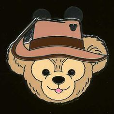 Disney Pin WDW 2012 Hidden Mickey Collection *Duffy Hat* Series - Adventureland!