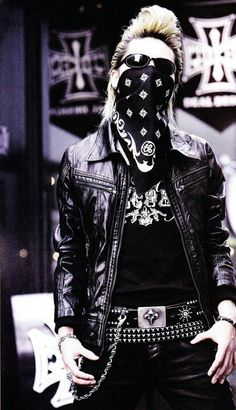 Black / Outfit / Rock style / Studs / Leather jacket / Metal / Alternative style