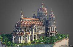 love this Minecraft Cathedral via http://www.bbc.co.uk/news/technology-29211032