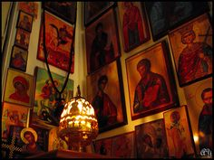 """easternorthodoxlife: """" """"Let your prayer be completely simple. For both the publican and the prodigal son were reconciled to God by a single phrase. John Climacus,The Ladder of Divine Ascent """" Orthodox Prayers, Orthodox Christianity, Religious Icons, Religious Art, Prayer Corner, Home Altar, Prayer Room, Orthodox Icons, Sacred Art"""