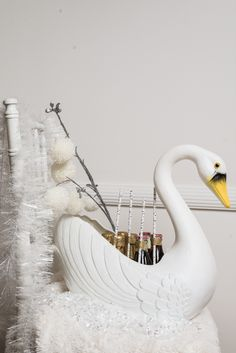 Winter White Swan Lake Party