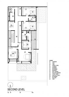 D+S House was designed in 2013 by DP+HS architects, covers an area of 557 sqm and is located in Jakarta, Indonesia Home Design Plans, Plan Design, Layout Design, House Layout Plans, House Layouts, Craftsman Floor Plans, House Floor Plans, Architecture Plan, Architecture Details