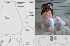 Aprende con Sara: Moldes Completos de bebé con chupete en fieltro, muy tierna
