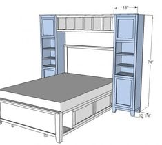 Hailey Towers for the Storage Bed System - Diy Furniture Bedroom Closet Bedroom, Home Bedroom, Bedrooms, Bedroom Kids, Master Bedroom, Extra Bedroom, Kids Rooms, Diy Furniture Plans, Bedroom Furniture