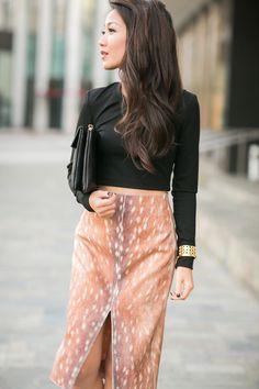 Carven Deer PRINT Skirt / via Wendy's Lookbook  Did someone really make this. I NEEDS