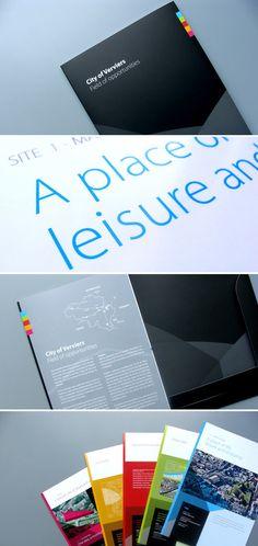 Graphic design City of Verviers brochure - #brochuredesign #moderndesign #graphicdesign #color