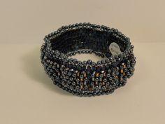 Black Pearl Beaded Bracelet by LoneMountainDesigns on Etsy, $66.00