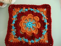 NO PATTERN great colors & beautiful square