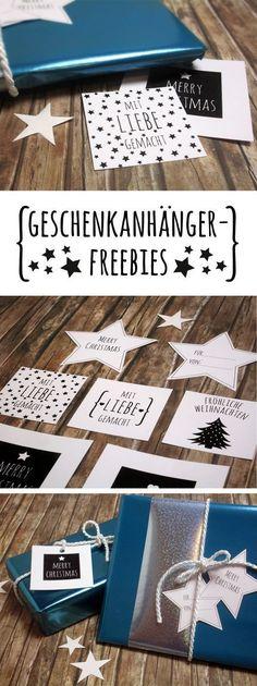 Weihnachtsgeschenke schnell und einfach verpacken - mit Geschenkanhängern zum Runterladen! #freebie #printable #christmas #tags