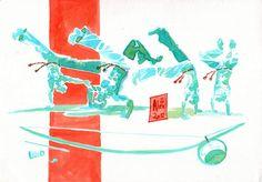 Encres : Capoeira - 100 !!!  [ #capoeira #ink #painting ]