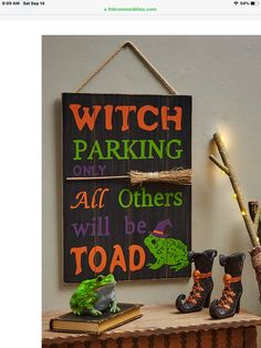 Toad, Painting On Wood, Witch, Home Decor, Decoration Home, Room Decor, Witches, Witch Makeup, Home Interior Design