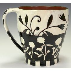 A Cup, Day and Night. Handmade Ceramic Cup by Nancy Gardner