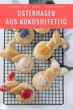 Osterhasen aus leckerem Kokos-Hefeteig  vegan, easter, bunny, hefe