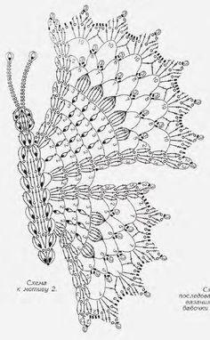 tejidos a crochet mariposas - Поиск в Google