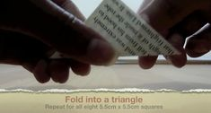 Picture of Fold Into a Triangle Geek Cross Stitch, Cross Stitch Bookmarks, Origami Stars, Easy Origami, Origami Flowers, Origami Instructions, Origami Tutorial, Diy Projects Origami, Origami Ball