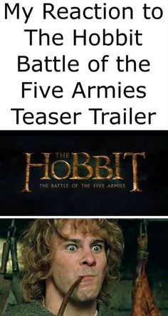 I JUST WATCHED THE TEASER TRAILER AND I LOVE IT AND SHWGRFKGWTGNPOFW ~ made by Samantha Morton / The Hobbit / Battle of the Five Armies / Tolkien / Humor / Middle Earth / Peter Jackson / Martin Freeman / Richard Armitage / Benedict Cumberbatch