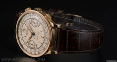 1937 Rolex 18k Yellow Gold Double Name Antimagnetic Chronograph 2508