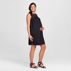 Maternity Burnout Yoke Dress XL - 14Th Place, Women's, Ebony