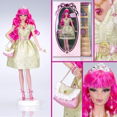 ♥ Diaries of a Spoiled Brat ♥: Tarina Tarantino Barbie Doll - Limited Edition Barbie 2000, Barbie And Ken, Pink Barbie, Tarina Tarantino, Barbie Celebrity, Hollywood, Gold Labels, Barbie Collector, Monster High Dolls