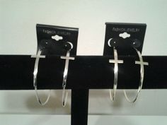 SILVER AND GOLD HOOP CROSS EARRINGS.12 PAIRS.8-PAIR SILVER.4-PAIR GOLD.GIFT IDEA in Jewelry & Watches   eBay