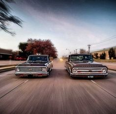 double trouble nice chevy pickups